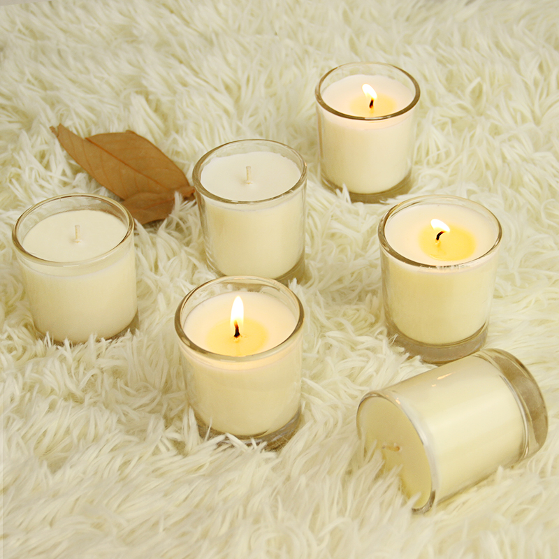 60g 6 Ətir ilə Pieces ətirli şam Set Clear Candle Jar