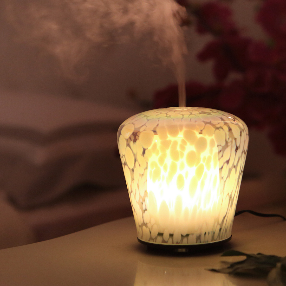 ulaʻula & White kani ultrasonic nui Oil Diffuser