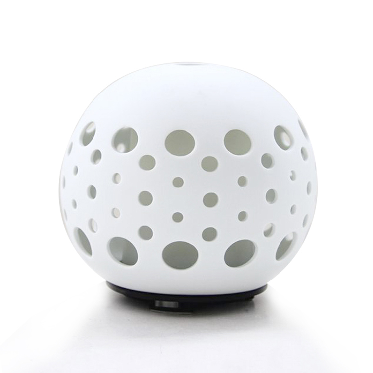 keramika isti Hollow Design Ceramic Cool Mist Ultrasonic Essential Oil Diffuser