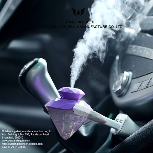 Chic Diamond Aròmatherapaidh Car Diffuser