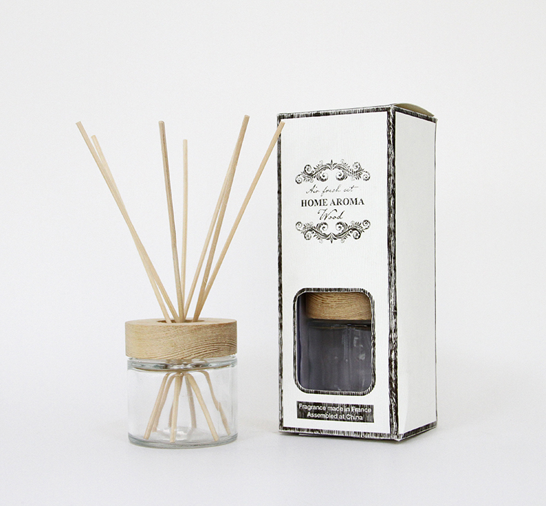 Chic Glass Reed Diffuser Met Wood Deksel