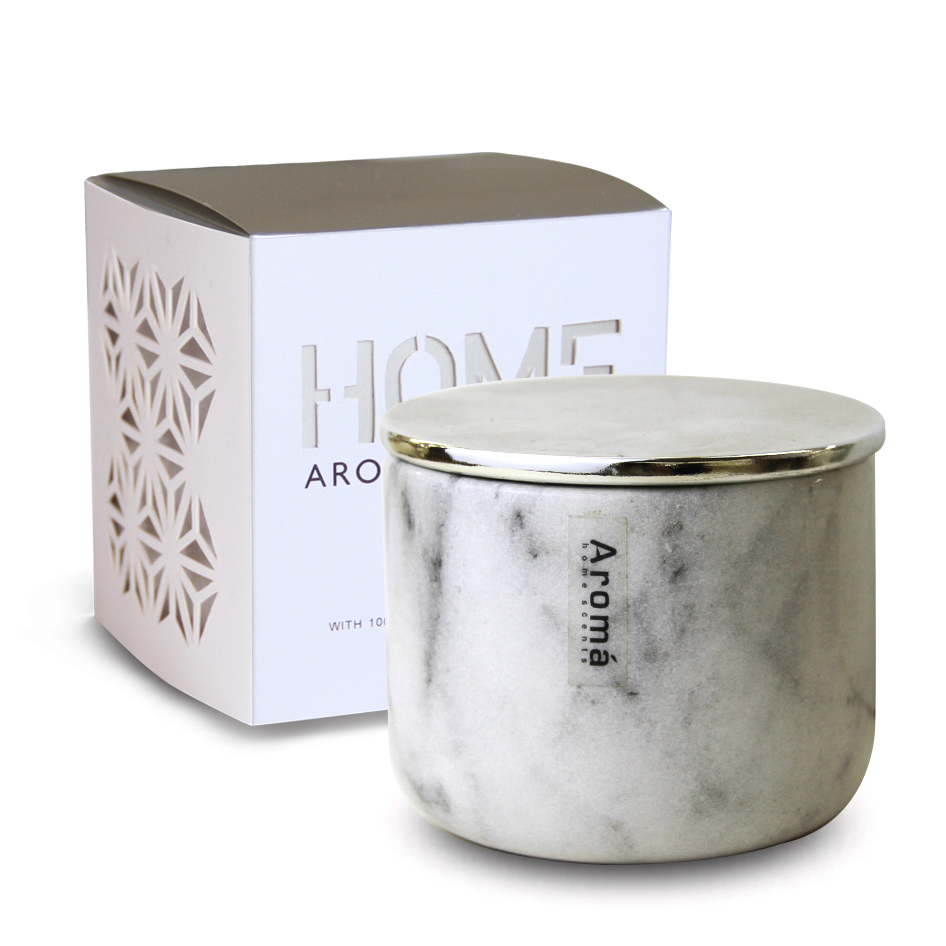 Chic White Ceramic Scented Candle