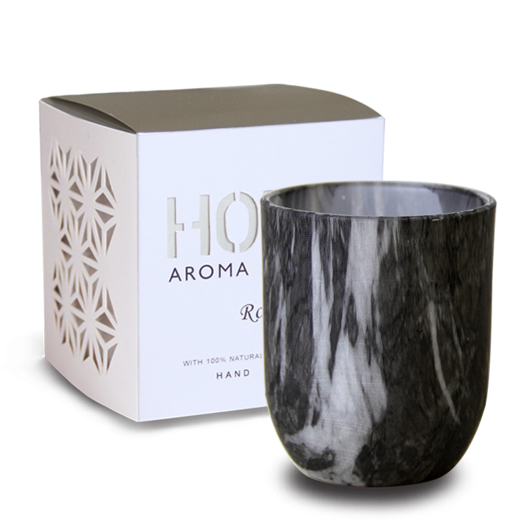 Decorative Marble Glazen Candles