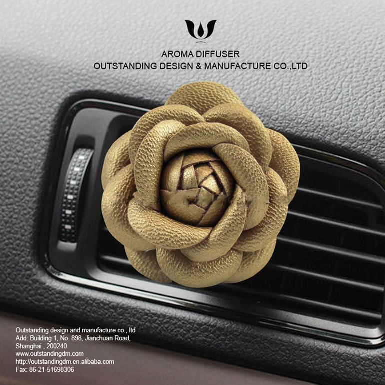 Glod Blossom Air Vent Clip-on Car Freshener