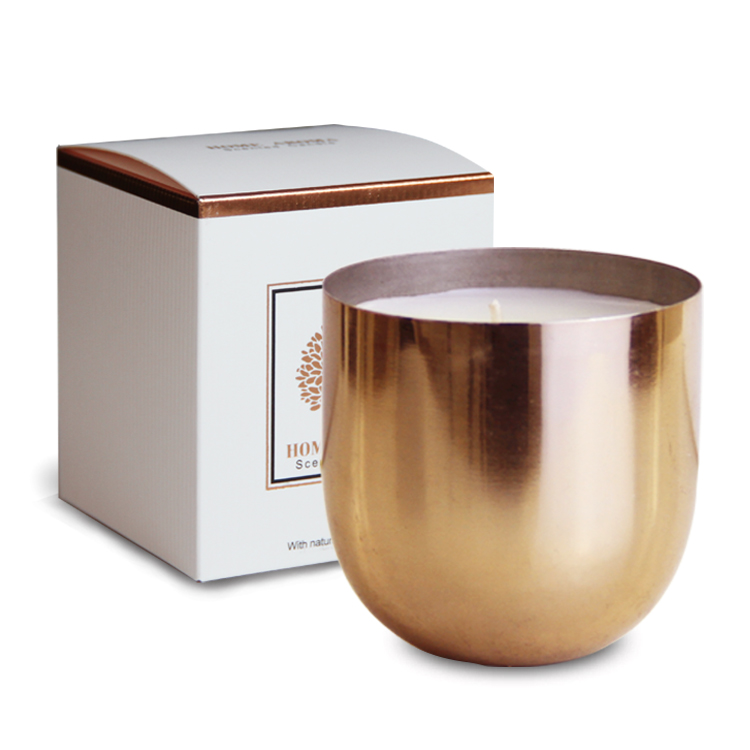 High End Metal Scented Candle