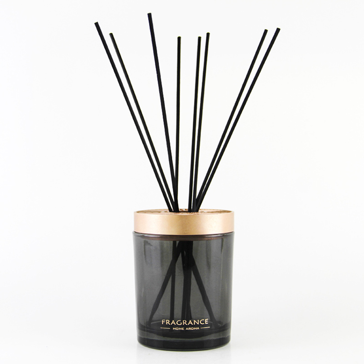 Ngahoro Bottle Black Glass Reed diffuser