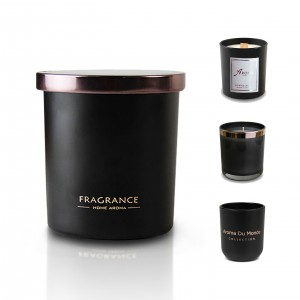 Luxury Scented Black Candle Jar With Scented Wax