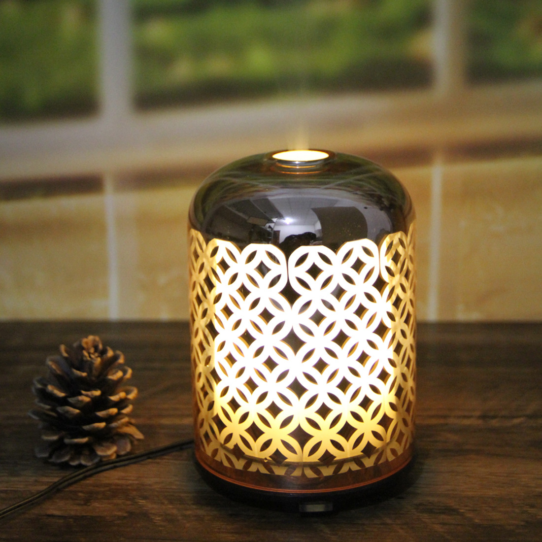 Rose Gold Glass Ultrasonic Aroma Diffuser