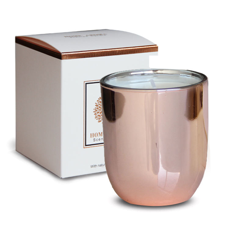 Rose Gold candela profumata in vetro
