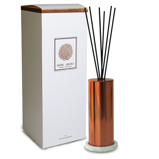 Rose Gold Reed Diffuser mit Rattan-Sticks und Marmorplatte