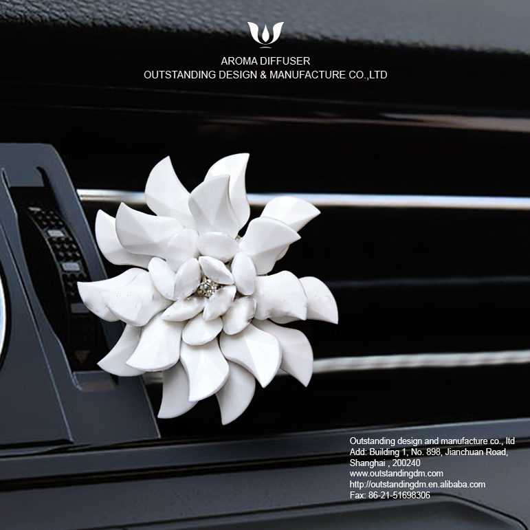 Blanc Blossom Air Vent Clip-on assainisseur voiture
